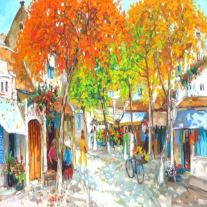 Lam Duc Manh , vietnam artist , vietnam painting , vietnam art , buy paintings online , Hanoi , autumn